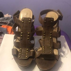 Lightly worn Rachel Roy heel sandal